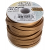 Flat Leather 5X2mm (10m Spool) Metallic Gold